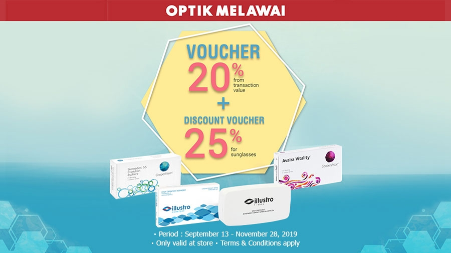 Optik Melawai Discount 20% + 25%